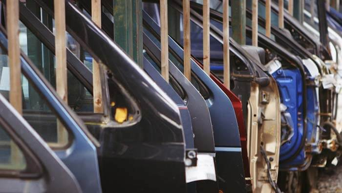 Car doors with 3d printing