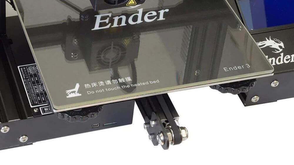 glass printer bed